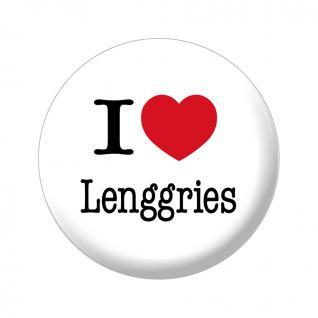 Magnet - I love Lenggries - Gr. ca. 5, 7 cm - 16048 - Küchenmagnet