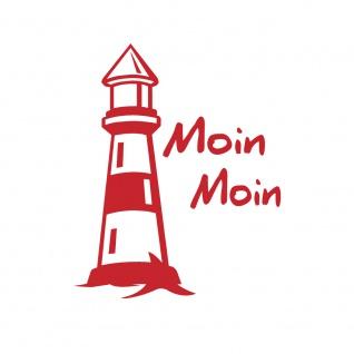 Auto-Aufkleber - Leuchtturm Moin Moin - 302979 Gr. 8, 5cm x 10, 5cm versch. Farben