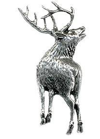 Anstecknadel - Metall - Pin - röhrender Hirsch - 02723 - Vorschau