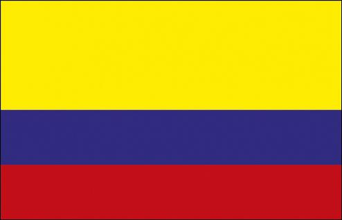 Hissflagge - Kolumbien - Gr. ca. 40x30cm - 77084 - Stockländerfahne Flagge
