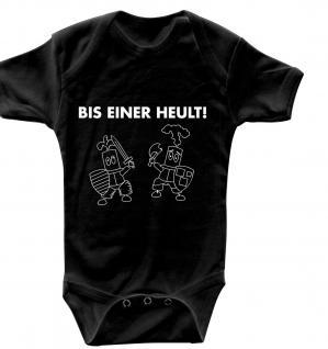 Babystrampler mit Print ? Bis einer Heult ? 08493 schwarz - 0-6 Monate