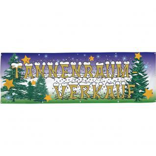 Banner Werbebanner - Tannenbaum Verkauf - 3x1m - Spannband für Ihren Werbeauftritt / Bedruckt mit Ihrem Motiv - 309906