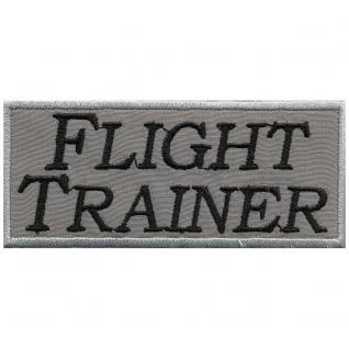 AUFNÄHER - Flight Trainer - 01925 - Gr. ca. 9 x 4 cm - Patches Stick Applikation