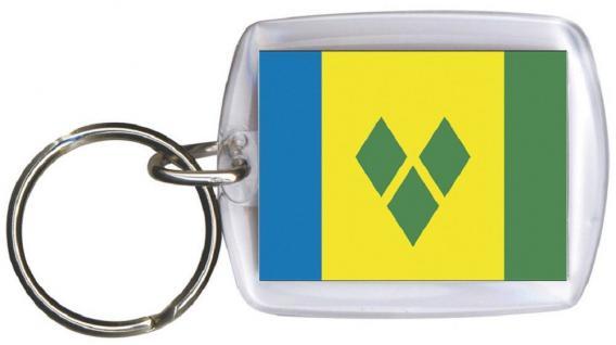 Schlüsselanhänger - ST VINCENT UND GRENADINIEN - Gr. ca. 4x5cm - 81158 - Keyholder WM Länder
