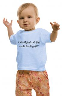 Kinder- T-Shirt mit Print - Ohne Spätzle .... - 08476 - hellblau - Gr. 86/92