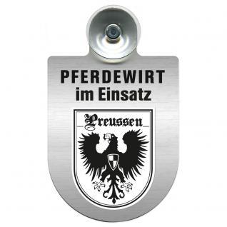 Einsatzschild Windschutzscheibe incl. Saugnapf - Pferdewirt im Einsatz - 309386-19 - Region Preussen