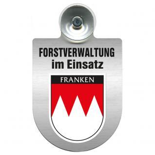 Einsatzschild für Windschutzscheibe incl. Saugnapf - Forstverwaltung im Einsatz - 309732-18 Region Franken
