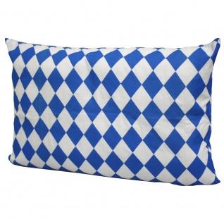 Deko Kissen mit kleiner blau-weißer Raute 50 x 30 cm 11768