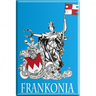 Kühlschrankmagnet - Frankonia - Gr. ca. 8 x 5, 5 cm - 38765 - Küchenmagnet