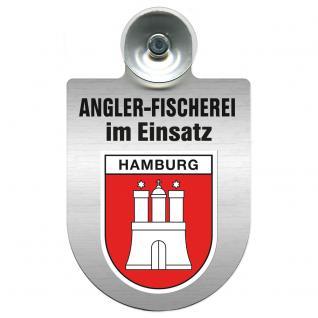 Einsatzschild Windschutzscheibe incl. Saugnapf - Angler-Fischerei im Einsatz - 309373-15 - Region Hamburg