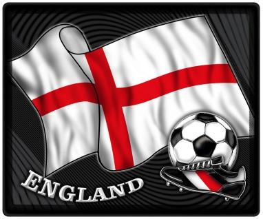 Mousepad Mauspad mit Motiv - England Fahne Fußball Fußballschuhe - 83189 - Gr. ca. 24 x 20 cm