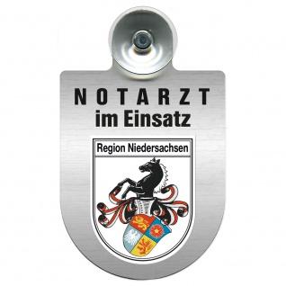 Einsatzschild Windschutzscheibe incl. Saugnapf - Notarzt im Einsatz - 309353 Region Niedersachsen