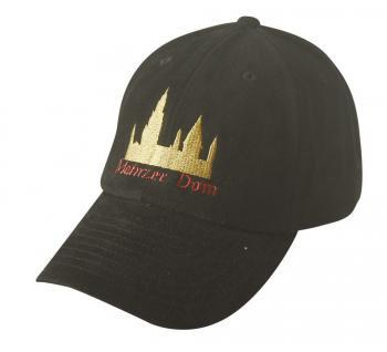 BaseCap - Cappy mit gold-roter Bestickung - Mainzer Dom - 68927 schwarz - Baumwollcap Cap Baseballcap Schirmmütze