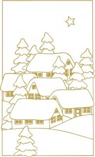 Wandtattoo Dekorfolie Weihnachtsbild WD0808 - gold / 90cm