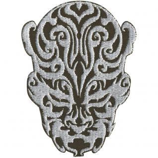 AUFNÄHER - Tribal Tatoo in Kopfform - 00008 - Gr. ca. 7 x 8, 5 cm - Patches Stick Applikation
