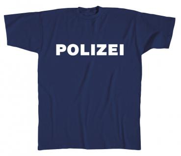 T-Shirt unisex mit Aufdruck - POLIZEI - 08125 - Gr. L