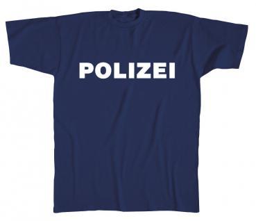 T-Shirt unisex mit Aufdruck - POLIZEI - 08125 - Gr. XXL