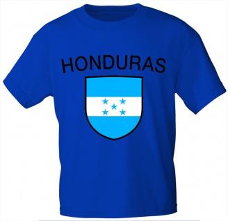 Kinder T-Shirt mit Print - Honduras - 76063 - blau 122/128
