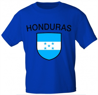 Kinder T-Shirt mit Print - Honduras - 76063 - blau 98/104