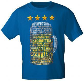 T-Shirt mit Print - Oktoberfest - Maßkrug - 09051 blau - Gr. L
