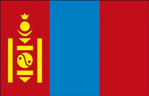 Länderflagge - Mongolei - Gr. ca. 30x40cm - 77111 - Stockländerfahne - Vorschau