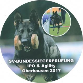 PVC-Aufkleber - SV-Bundessiegerprüfung Oberhausen - Schäferhund - 301628/1 ca. 10cm