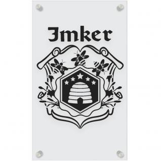 Zunftschild Acryl-Kunststoffplatte - IMKER - 309455 versch. Farben - schwarz