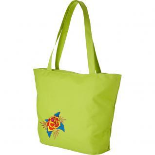 Modische Lifestyle- Tasche mit Motiv- Stickerei - Rose - 08957 - Shopper Tragetasche Ticiana Montabri