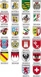 (309353) Einsatzschild für Windschutzscheibe -Notarzt im Einsatz - incl. Regionenwappen nach Wahl Region Bayern