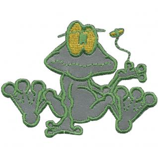 Aufnäher - Frosch - 00976 - Gr. ca. 8, 5 x 6 cm - Patches Stick Applikation
