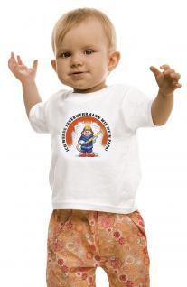 Kinder T-Shirt mit Print - Ich werde Feuerwehrmann wie mein Papa - 08117 - weiß - Gr. 92/98