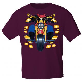 Kinder Marken-T-Shirt mit Motivdruck in 13 Farben Motorrad K12780 134/146 / Bordeaux
