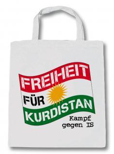 Baumwolltasche mit Aufdruck - FREIHEIT FÜR KURDISTAN - Kampf gegen IS - 08948 - Baumwolltasche Einkaufstasche