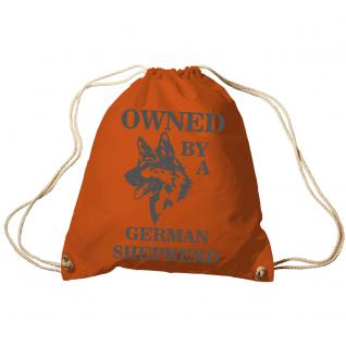 Trend-Bag Turnbeutel Sporttasche Rucksack mit Print - Owned by a german shepherd- TB08900 Orange