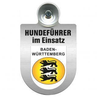 Einsatzschild Windschutzscheibe incl. Saugnapf - Hundeführer im Einsatz - 309381-1 Region Baden-Württemberg