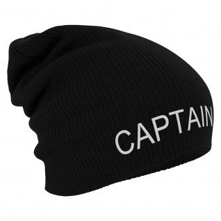 Longbeanie Slouch-Beanie Wintermütze Captain 55227 schwarz