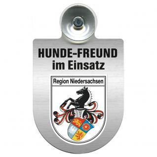 Einsatzschild Windschutzscheibe incl. Saugnapf - Hundefreund im Einsatz - 309383 Region Niedersachsen