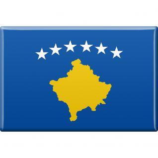 Küchenmagnet - Länderflagge Kosovo - Gr.ca. 8x5, 5 cm - 38064 - Magnet