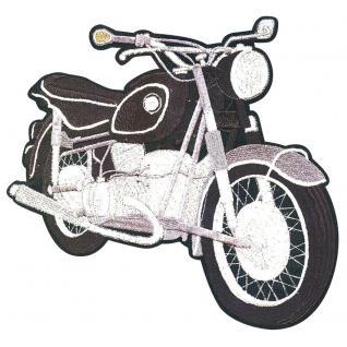RÜCKENAUFNÄHER Applikation Stick Patches Motivstick - Bike Chopper Motorrad - Gr. ca. 30cm x 27cm (08047) Jacke Kutte