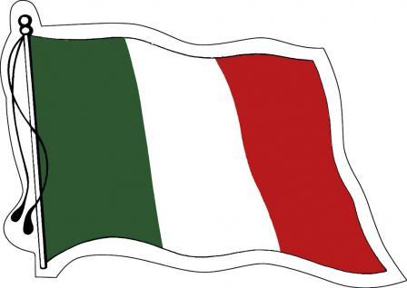Aufkleber Autoaufkleber Länderfahne wehend - Italy - Italien - 301232 - Gr. ca. 95mm x 70mm