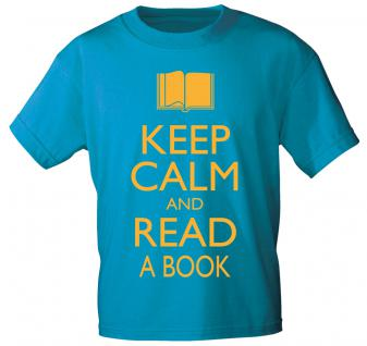 T-SHIRT unisex mit Motivdruck - Keep calm and read a book- 12901 - Gr. S