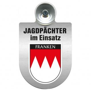 Einsatzschild Windschutzscheibe incl. Saugnapf - Jagdpächter im Einsatz - 09757 - Region Franken