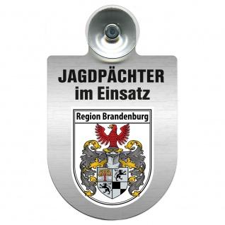 Einsatzschild Windschutzscheibe incl. Saugnapf - Jagdpächter im Einsatz - 09757 - Region Brandenburg