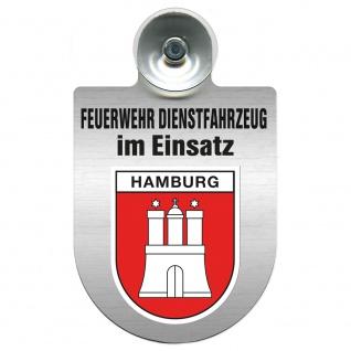 Einsatzschild Windschutzscheibe incl. Saugnapf - Feuerwehr Dienstfahrzeug im Einsatz - 393801 - incl. Regionen nach Wahl Region Hamburg