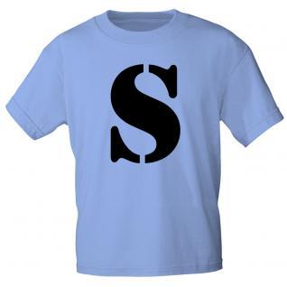 """Marken T-Shirt mit brillantem Aufdruck """" S"""" 85121-S L"""