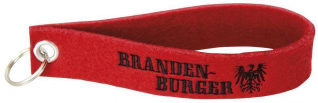 Filz-Schlüsselanhänger mit Stick Brandenburger Gr. ca. 17x3cm 14205 rot