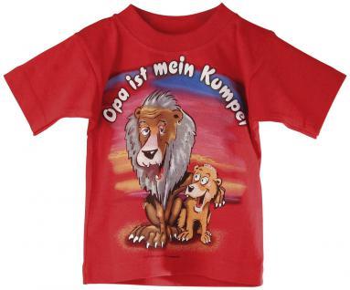 Kinder T-Shirt mit Print - Opa ist mein Kumpel - 08226 rot - Gr. 134/146