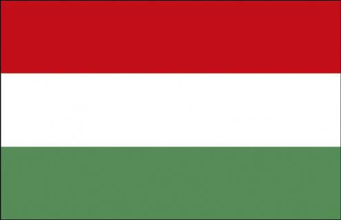 Länder-Flagge - Ungarn - Gr. ca. 40x30cm - 77178 - Flagge, Schwenkfahne, Stockländerfahne