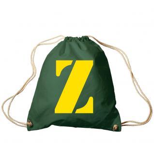 """Trend-Bag Turnbeutel Sporttasche Rucksack mit Print """" Z"""" 65091-Z"""