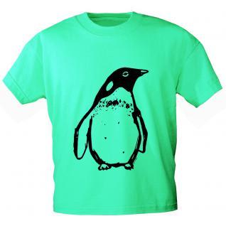 Kinder T-Shirt mit Print - Pinguin - in 2 Farben - 12448 - Gr. 86-164